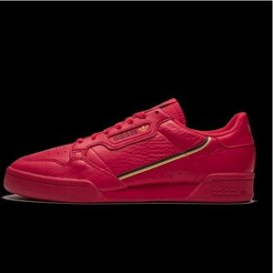 Men's Adidas Continental 80 Red Black Gold